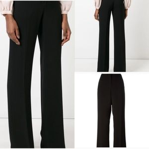 MaxMara black wool straight trousers Pants Italy